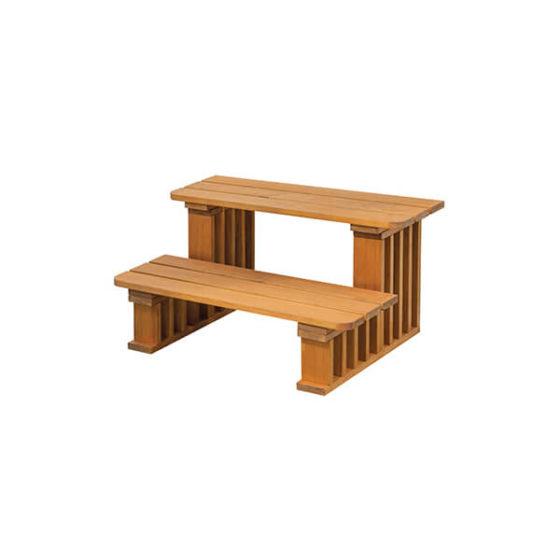 Thermowood jakuzzi fa lépcső